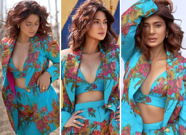 Jennifer Winget mesmerises giving us in the blue printed co-ord dress : Bollywood News